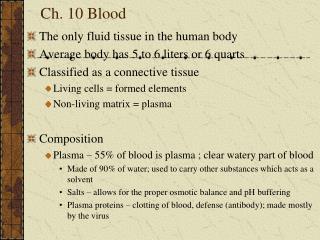 Ch. 10 Blood
