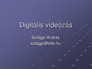 Digitális videózás