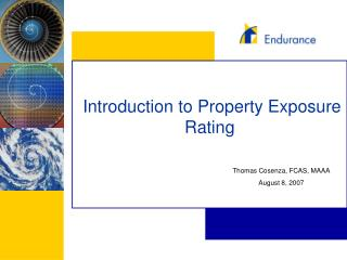 Introduction to Property Exposure Rating
