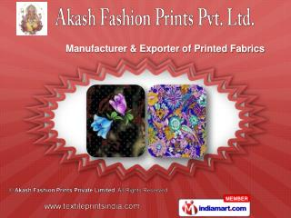 Pigment Disperse Print With Khadi  & Discharge Print Fabric