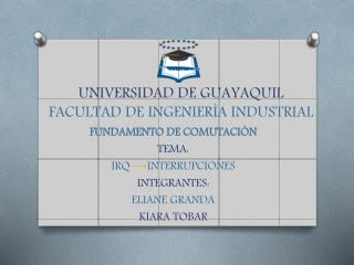 UNIVERSIDAD DE GUAYAQUIL FACULTAD DE INGENIERÌA INDUSTRIAL