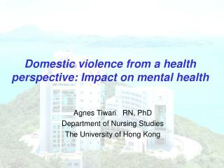 Domestic violence from a health perspective: Impact on mental health