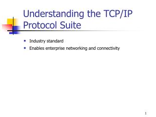 Understanding the TCP/IP Protocol Suite