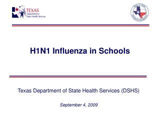 H1N1 Influenza in Schools