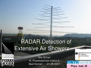 RADAR Detection of Extensive Air Showers