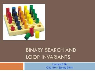 Binary Search and Loop invariants