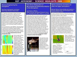 NSF / AERONOMY :   SCIENCE  HIGHLGHTS  2009
