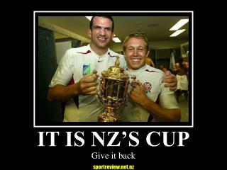 IT IS NZ'S CUP