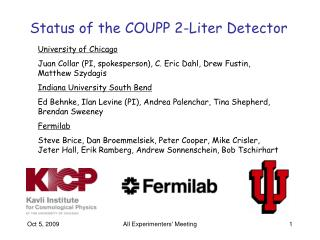Status of the COUPP 2-Liter Detector
