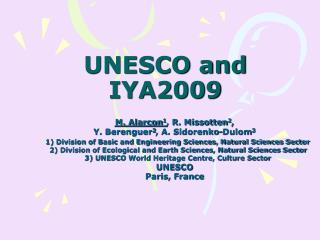 UNESCO and IYA2009