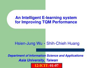 An Intelligent E-learning system for Improving TQM Performance
