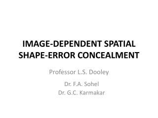 IMAGE-DEPENDENT SPATIAL SHAPE-ERROR CONCEALMENT