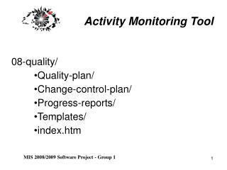 Activity Monitoring Tool