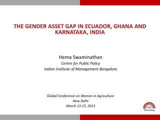 THE gender asset gap in  ecuador , Ghana and Karnataka, India