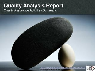 Quality Analysis Report Quality Assurance Activities Summary
