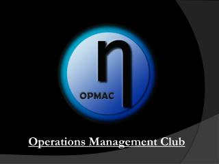 Operations Management Club
