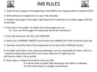 INB RULES