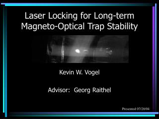 Laser Locking for Long-term Magneto-Optical Trap Stability