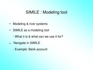 SIMILE : Modeling tool