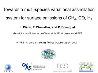 Towards a multi-species variational assimilation system for surface emissions of CH 4 , CO, H 2