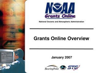 Grants Online Overview