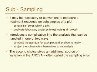 Sub - Sampling