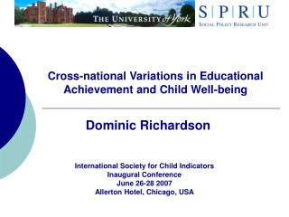 Cross-national Variations in Educational Achievement and Child Well-being