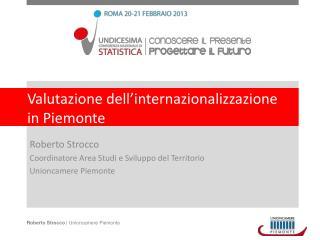 Valutazione dell�internazionalizzazione in Piemonte