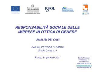 RESPONSABILITÀ SOCIALE DELLE IMPRESE IN OTTICA DI GENERE