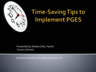 Time-Saving Tips to Implement PGES
