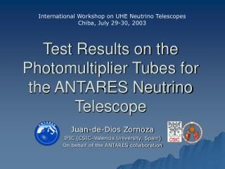 Test Results on the Photomultiplier Tubes for the ANTARES Neutrino Telescope