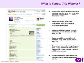 What is Yahoo! Trip Planner?