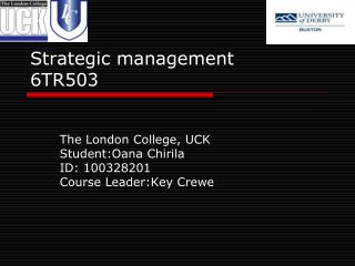 Strategic management 6TR503