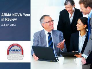 ARMA NOVA Year in Review