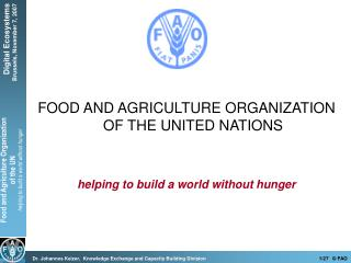 World Food Summit 1996 Reducing Hunger and Poverty in the World by 50% in 2015