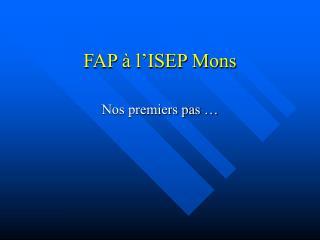 FAP à l'ISEP Mons