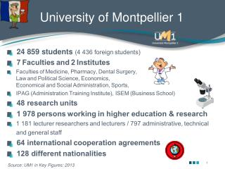 University of Montpellier 1
