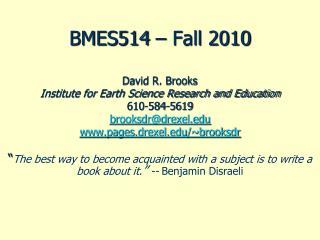 BMES514 – Fall 2010