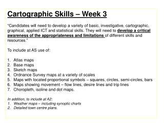 Cartographic  Skills – Week 3