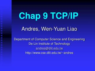 Chap 9 TCP/IP