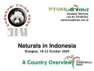 Naturals in Indonesia