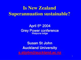 Is New Zealand Superannuation sustainable?
