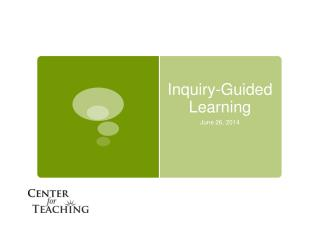 Inquiry-Guided Learning