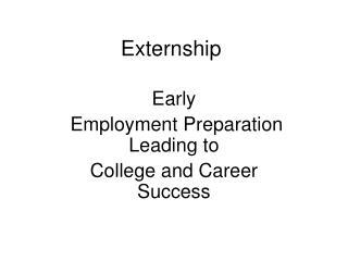 Externship