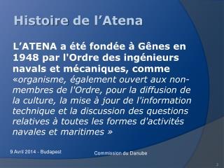 Histoire  de l'Atena