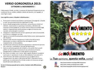 VERSO GORGONZOLA 2013: CITTADINI in MOVIMENTO !