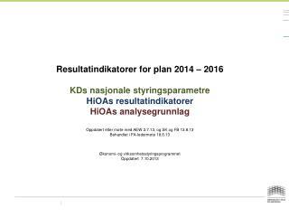 Plan og budsjett 2014-2016