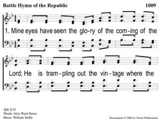 1-1 Battle Hymn of the Republic