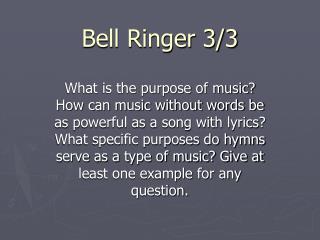 Bell Ringer 3/3