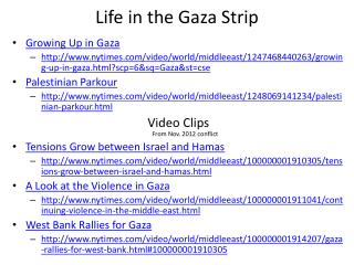 Life in the Gaza Strip
